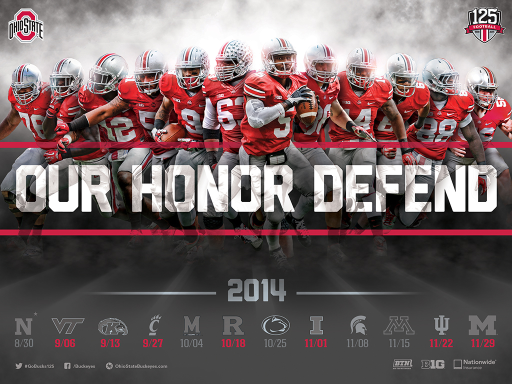 Download The Ohio State Football 2014 Schedule Poster For